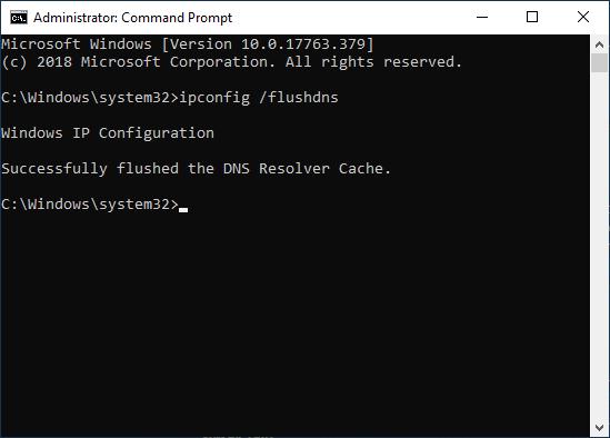 Flush DNS di cmd