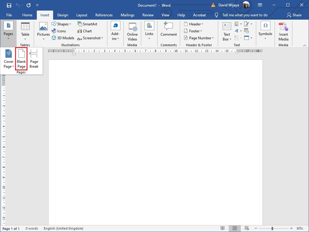 Menambah Halaman di Word - Blank Page