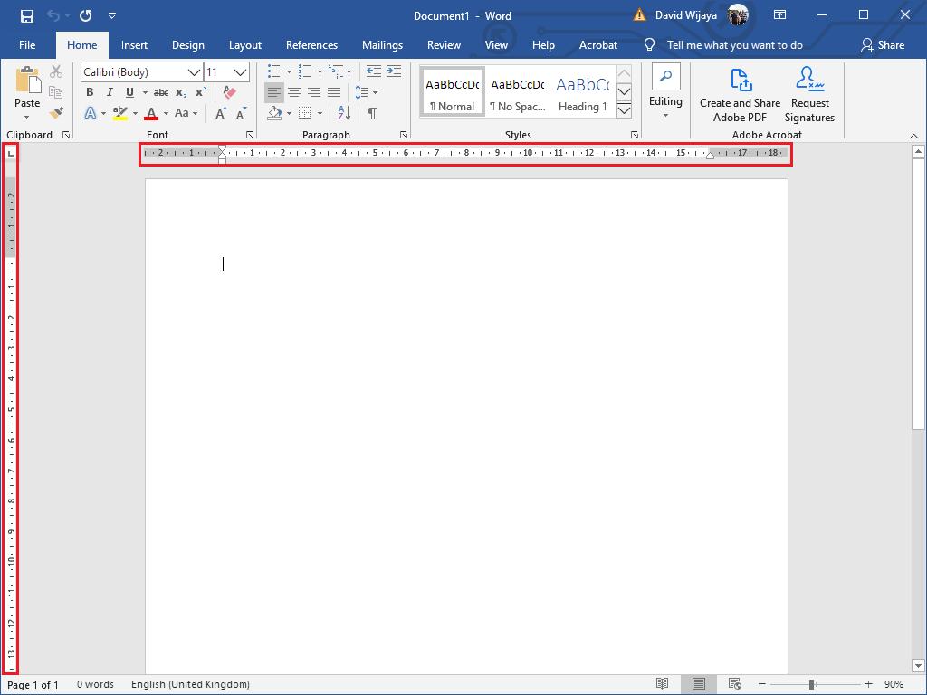 Cara Menampilkan/ Memunculkan Ruler di Word - Tampilan