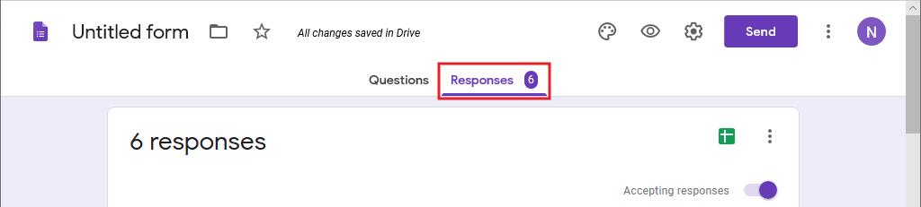 Buka tab Responses