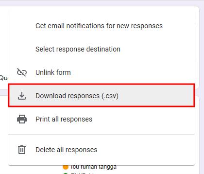 Export Google Form ke Excel