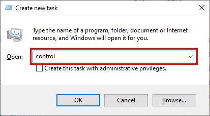 Cara membuka Control Panel dengan Task Manager