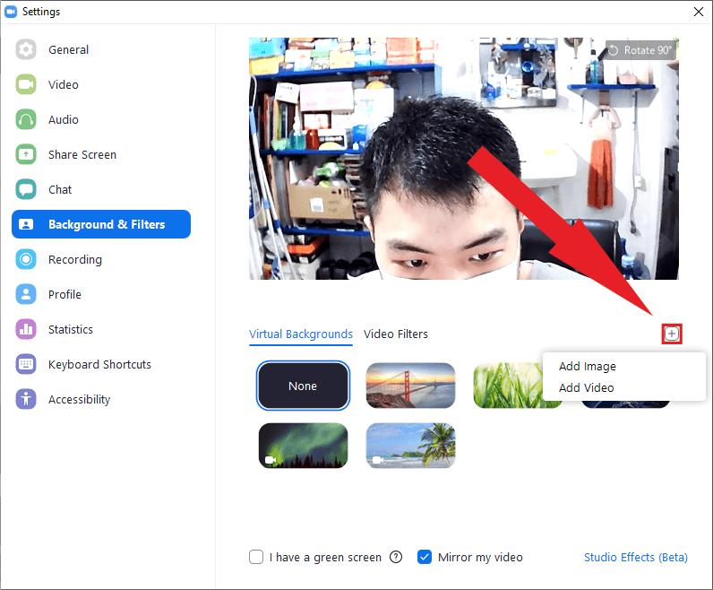 Menggunakan gambar sendiri untuk virtual background Zoom