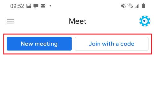 Mulai meeting Google Meet HP