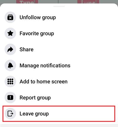 Cara keluar dari grup FB Android iPhone